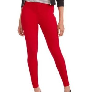 NWOT Faded Glory Knit Red Jegging XXL